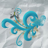 Swirls on crumpled paper Stock Photo