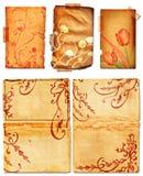 swirls för sidor för bokgrunge öppna royaltyfri illustrationer