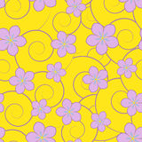 Swirls and flowers Royalty Free Stock Photography