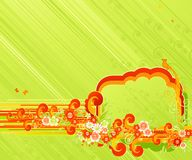 Swirls and flowers. Vector illustration Royalty Free Stock Photography