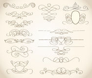 Swirls and frames Royalty Free Stock Image
