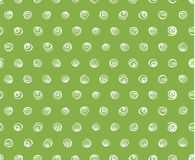 Swirls on greenery background, seamless pattern. White swirls on greenery background, seamless pattern vector Royalty Free Stock Images