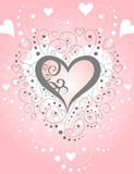Swirls & Hearts Paper [VECTOR]. Beautiful compliment to any Valentines or romantic affair. Great for notes, stamps, cards, tags or avatars vector illustration