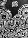 Swirls Ink Drawing Royalty Free Stock Image