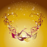 Swirls and masks 2 Royalty Free Stock Images