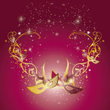 Swirls and masks 1 Royalty Free Stock Image