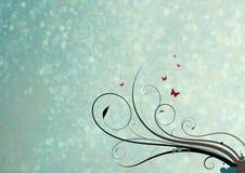 Swirls och fjärilar Royaltyfria Bilder