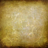Swirls on old paper background Stock Image