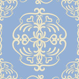 Swirls pattern. Abstract decorative blue seamless pattern Stock Photo