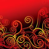 Swirls on red Stock Photos