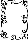 Swirls and scrolls border. Gothic swirls and scrolls border with word trust Royalty Free Stock Photos