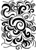 Swirls and scrolls pattern Royalty Free Stock Photography