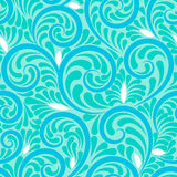 Swirls seamless abstract background with blue Stock Image