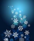 Swirls of snow flakes leading Royalty Free Stock Photo