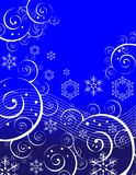 Swirls and Snowflakes Royalty Free Stock Images