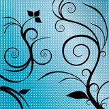 Swirls with square background Stock Image