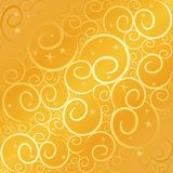 swirlstar的金子 库存图片