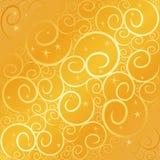 swirlstar guld Fotografering för Bildbyråer
