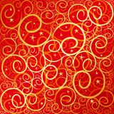 Swirlstar red-gold Royalty Free Stock Image