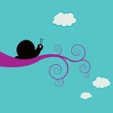 swirly分行蜗牛 免版税图库摄影
