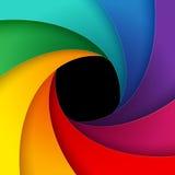 Swirly彩虹五颜六色的纸背景 免版税图库摄影