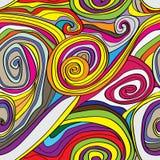 Swirly得出的无缝的样式 免版税库存图片