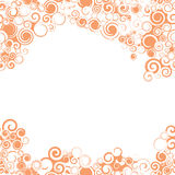 Swirly无缝的橙色边界 库存照片