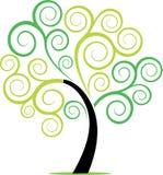 Swirly树厂漩涡 免版税库存照片