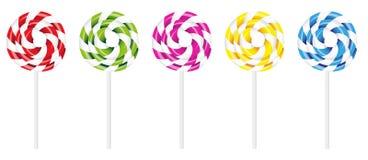 swirly棒棒糖 库存图片