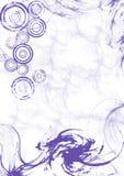 swirly紫色漩涡 库存照片