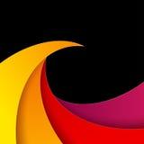 Swirly红色和橙色纸背景 免版税库存图片