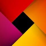 Swirly红色和橙色纸背景 库存照片