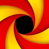 Swirly红色和橙色纸背景 免版税库存照片