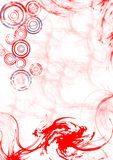 swirly红色漩涡 库存照片