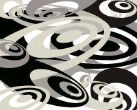 swirly背景黑色 库存照片