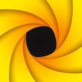 Swirly黄色纸背景 免版税图库摄影