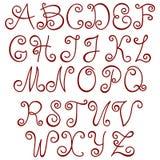 Swirly Alphabet. Stock Images