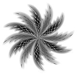 Swirly Black Spiral Spinning stock image