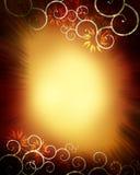 Swirly Blumen-Hintergrund Stockfotos