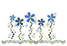 Swirly Blumenauslegung Lizenzfreie Stockfotografie