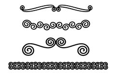 Swirly border set Royalty Free Stock Image