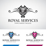 Swirly brillant Logo Icon royal Photo stock