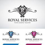 Swirly brillant Logo Icon royal Photo stock