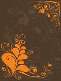 Swirly brown and orange retro. Frame - illustrated background Royalty Free Stock Images