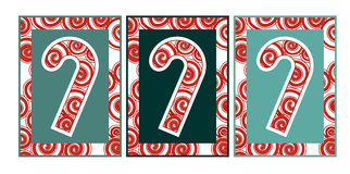 Swirly Christmas Candy Canes Stock Photo