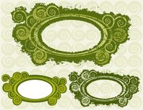 Swirly Circle Frames Stock Photography