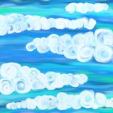 Swirly clouds Stock Photography