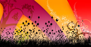 Swirly colorful background cover design image 1 Royalty Free Stock Photos