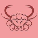 Swirly Crab Design Royalty Free Stock Photos