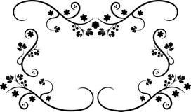 swirly czarny rama royalty ilustracja